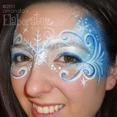 #faceNbodyPaint ▶ Winter or snow fairy mask of face paint.