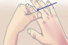 """1. Rub your thumb and pull it upwards Thumb is connected to heart and lungs. When rapid heartbeat, or when you will stay breathless, what you need to do is to massage your thumb and to pull it up. 2. """"Index finger massaging"""" against..."""