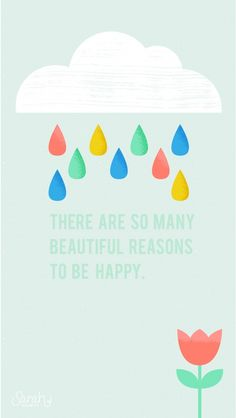 There are so many beautiful reasons to be happy. iPhone Wallpapers Quotes & Words. Typography backgrounds for iPhone. Tap image to see more beautiful iPhone Wallpapers. - @mobile9
