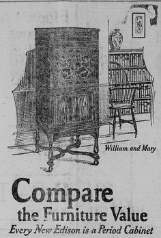 1921 Edison Phonograph  #edison #phonograph #vintage #furniture
