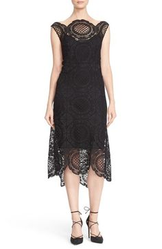 Tracy Reese Crochet Lace Scalloped Hem Midi Dress available at #Nordstrom