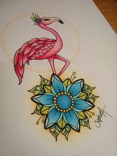 Flamingo tattoo by RodJaASexface.deviantart.com on @deviantART