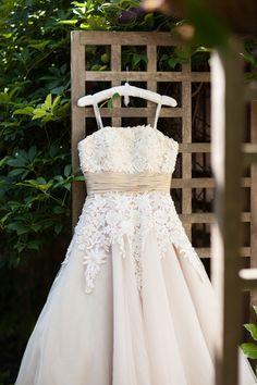sweet applique tea length dress | Rachel Fesko #wedding