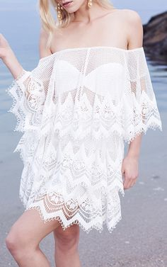 For An Angel Tiered Lace Dress by THURLEY for Preorder on Moda Operandi