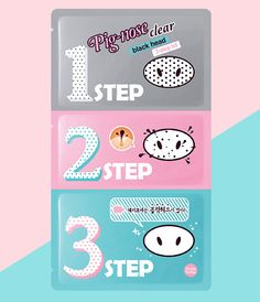 Holika Pig Nose Clear Blackhead Remover Pore Mask 3 Step Kit 1~10pcs US Seller  | eBay