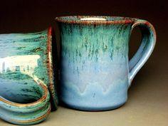 Blue Mug  Ceramic Coffee Mug by darshanpottery on Etsy, $20.00