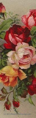 Set of 10 Quantity Bookmarks - Vintage Roses - Roses And Teacups