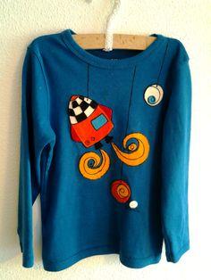 "Camiseta para niño ""Cohete a la luna"" / Mami_moon - Artesanio"