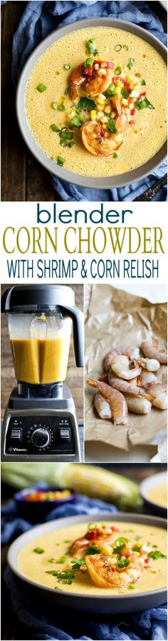 Fall perfection! This Blender Corn Chowder with Pan Seared Shrimp and Corn…