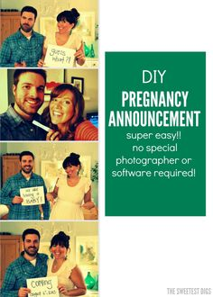 how to make a DIY photobooth style pregnancy announcement - via the sweetest digs