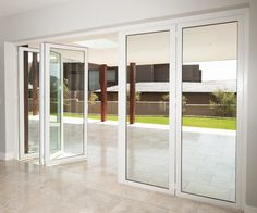 multi-fold door creating a spacious environment, let in the light! Different Styles, Environment, Doors, Lighting, Stuff To Buy, Furniture, Home Decor, Decoration Home, Room Decor