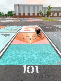 Aesthetic Painting, Aesthetic Collage, Driveway Paint, Parking Spot Painting, School Countdown, Drawing Hair Tutorial, Parking Spots, American High School, Adventure Aesthetic