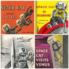 kitten's space. cat collage / space cat / le chat de l'espace