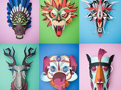 To see the whole project: https://www.behance.net/gallery/Graphical-Carnaval/3218473