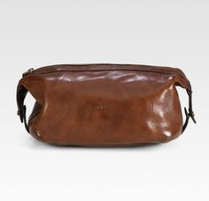 60e607ec3a Polo Ralph Lauren Leather Dopp Kit in Brown for Men - Lyst Ralph Lauren  Style
