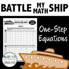 Battle My Math Ship - One-Step Equations