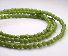 Avocado Green Picasso Czech Glass Fire Polished 3mm Faceted Round Beads 100 pcs. 3mm/124 by royalmetals on Etsy https://www.etsy.com/listing/218838977/avocado-green-picasso-czech-glass-fire