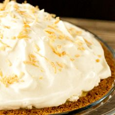 Coconut Cream Pie-My absolute favorite dessert but no one in my family likes coconut..........so I rarely have it!  This is the real deal-no instant pudding in this recipe