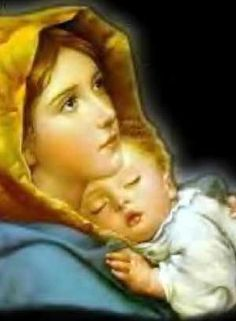 Blessed Virgin Mary with Jesus Jesus Mother, Blessed Mother Mary, Blessed Virgin Mary, Baby Jesus, Mother Mother, Queen Mother, Images Bible, Jesus Photo, Images Of Mary