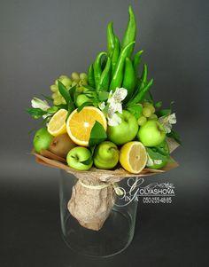 Gallery.ru / Фото #190 - Букеты 2 - nekto1 Food Bouquet, Candy Bouquet, Edible Arrangements, Flower Arrangements, Fruit Flower Basket, Vegetable Bouquet, Vegetable Decoration, Edible Bouquets, Fruit Decorations