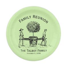 Tree Personalized Family Reunion Paper Plates  sc 1 st  Pinterest : cookie monster paper plates - pezcame.com