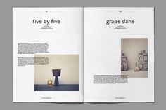 Dansk Magazine / DesignUnit - I like the overlapping writing Editorial Design Layouts, Magazine Layout Design, Magazine Layouts, Pub Design, Book Design, Layout Inspiration, Graphic Design Inspiration, Design Poster, Print Design