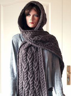 Pattern for Hooded Scarf Ingrid