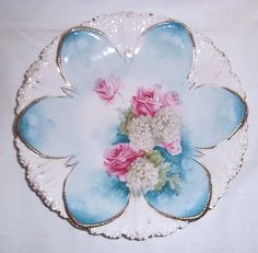 Vintage RS Prussia Ornate 81/2 Plate Roses and by aestexas on Etsy, $120.00