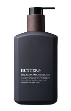 Hunter Lab Hand & Body Wash Super natural multi-purpose wash crafted with invigorating Macrobiotic Sea Minerals and Bladderwrack, Wakame and Violet Leaf Extracts rich in corrective anti-oxidants to help cleanse and improve skin condition without dehydrating, leaving the skin feeling fresh and smooth