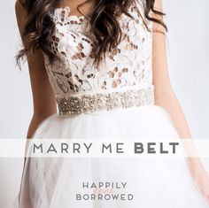 Shine bright like this Swarovski and silk satin ribbon belt from Justine M Couture https://www.happilyeverborrowed.com/collections/belts/products/marry-me-belt?variant=797505189