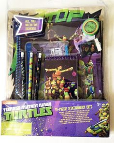 cool Teenage Mutant Ninja Turtles TMNT Back to School Supplies 11 Piece Stationery Gift Set Check more at http://appmyxer.com/amazon-products/office-school-supplies/teenage-mutant-ninja-turtles-tmnt-back-to-school-supplies-11-piece-stationery-gift-set/