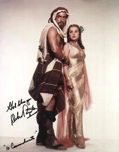 Joshua (John Derek) and Lilia (Debra Paget)