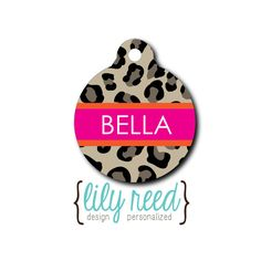 New phone number means I get to create awesome dog tag for my girls to match their preppy leopard and pink collars.
