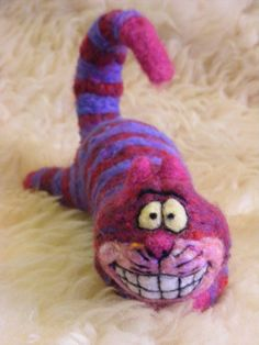SOLD Needle Felted Cheshire Cat by CVDart1990 on DeviantArt