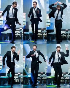 Tom Hiddleston - dancing maniac, driving all of us over the edge as well :)