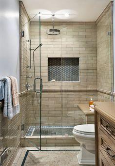 Debris Series Bathroom Installation using Moldings at Fireclay Tile. Neutral Bathroom Tile, Bathroom Floor Tiles, Modern Bathroom, Bathroom Ideas, Bath Ideas, Shower Tiles, Master Bathroom, Bathroom Gallery, Bathroom Sconces