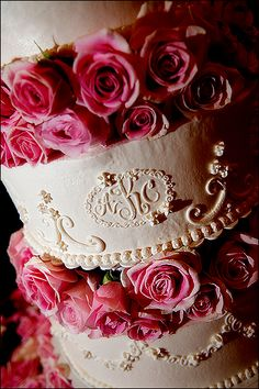 White and pink with monogram - Photo by Jason