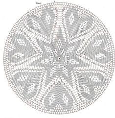 Only Crochet Patterns Archives – Beautiful Crochet Patterns and Knitting Patterns – mahimah nemati - Crochet Crochet Doily Diagram, Crochet Motifs, Crochet Chart, Thread Crochet, Filet Crochet, Crochet Doilies, Crochet Stitches, Crochet Gratis, Crochet Circles