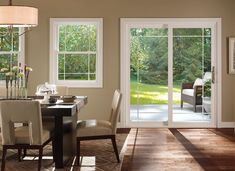 PellaR 350 Series Sliding Patio Door Accents Prairie Style