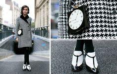 black white pattern street style