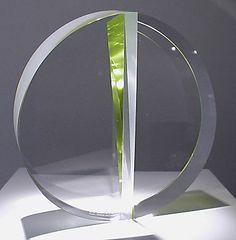 """Martin Rosol Radius cut, assembled glass  9"""" x 9"""" x 4 1/2"""""""