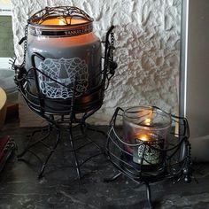 Deco porte-jarre jarre et porte votive pour halloween de yankee candle
