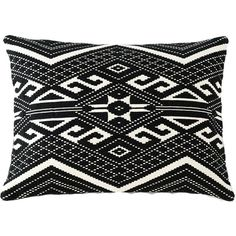 Shiraleah Isis Geometric Decorative Throw Pillow (£34) ❤ liked on Polyvore featuring home, home decor, throw pillows, pillows, geometric throw pillows, cotton throw pillows, cobalt blue home decor, black and white throw pillows and black and white accent pillows