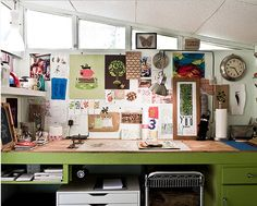 Apartment Therapy, D Magazine, Shay & Jeffs Book Lovers Dallas Home--Love this workspace.