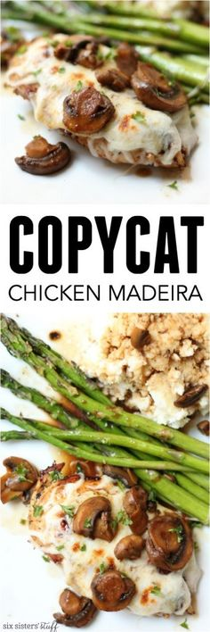 Chicken Madeira Cheesecake Factory Copycat Recipe from SixSistersStuff.com | A cheesy, delicious family favorite using ingredients you have on hand!