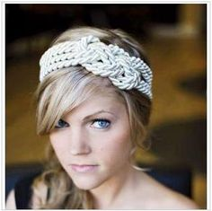 A rope headband---a great way to add texture and pull the nautical theme all together.