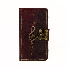 Solo Music Purple Samsung Galaxy S5 Phone Case Cover Handmade Genuine Leather Wallet Hardcover Card Holder Side Flip Cases