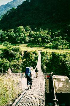 nomadicaltravel:    Bridge on the Annapurna Trek.