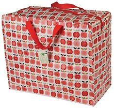 Amazon.com: The Original Jumbo Storage Bag - Vintage Apple by dotcomgiftshop: Kitchen & Dining Utility Tote, Dressing, Bag Storage, Decorative Boxes, Tropical, Apple, Vintage, The Originals, Bags