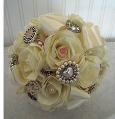 Wedding flowers,brooch bouquet